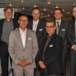 data connect - Von links nach rechts obere Reihe:  Hanspeter Thür, Martin Haas, Jürg Baumgartner, Patrick Schünemann. Von links nach rechts untere Reihe Daniel Röthlin, Urs Heinz Aerni