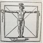 Abbildung: Der Mensch als Kreuz. Agrippa von Nettesheim 1533